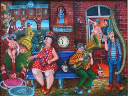 Waiting for the News at the Wunderplatz, cykl Emigranci		Jacek Lipowczan
