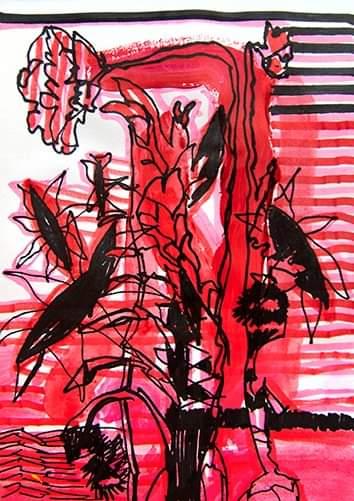 Rysunek z cyklu Dziennik -A0009